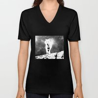 Walking on the moon Wolf Unisex V-Neck