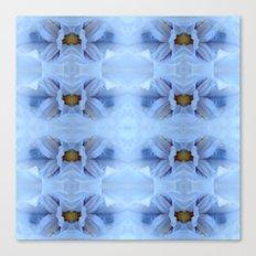 Pastel Blue Flower Patte… Canvas Print