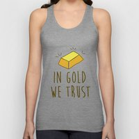 In Gold We Trust! Unisex Tank Top