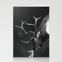Elk And Rabbit Stationery Cards