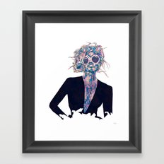 Pastel Light Four Eyes Framed Art Print