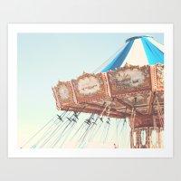 Soft Carousel, Carnival  Art Print