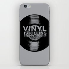 Vinyl is Killing the MP3 Industry iPhone & iPod Skin