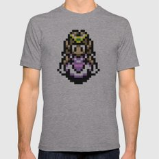 Princess Zelda Mens Fitted Tee Athletic Grey SMALL