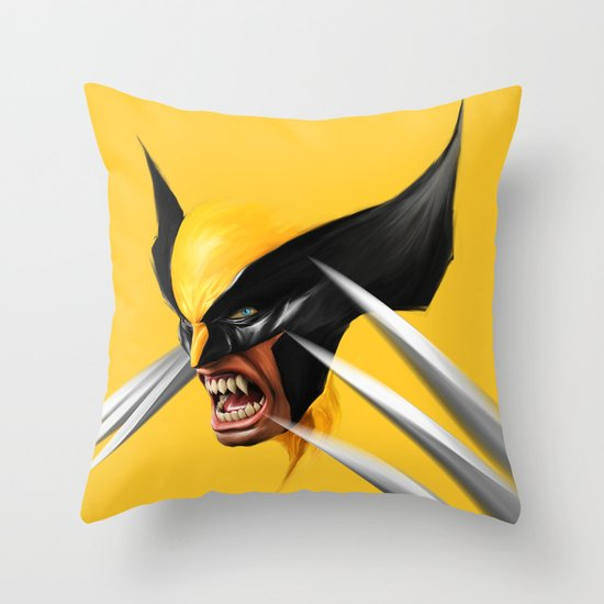 Yellow And Black Decorative Pillows : BLACK AND YELLOW Throw Pillow by John Aslarona Society6