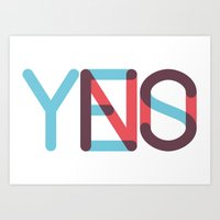 Yes/No Art Print