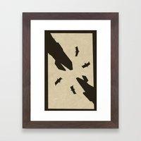 Lying In The Desert Framed Art Print