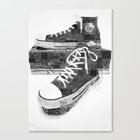 Get Chucked Canvas Print