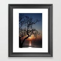 Sorrento Evening Sunset Framed Art Print