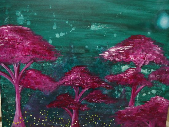Fireflies and Will o' Wisps Art Print
