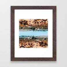 upside down world Framed Art Print