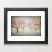 January Romance Framed Art Print