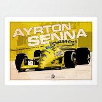 Ayrton Senna - F1 1987 Art Print