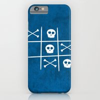 iPhone & iPod Case featuring Skull & bones by Octavian Mielu