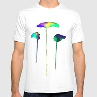 Raining Colour Mens Fitted Tee White SMALL