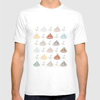 Boats And Anchors Patter… Mens Fitted Tee White SMALL