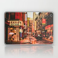 Laptop & iPad Skin featuring New York City Rain In Ch… by Vivienne Gucwa