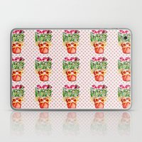 Polka Dots and Pots of Dried Roses Laptop & iPad Skin