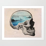 Art Print featuring Brain Waves by Chase Kunz