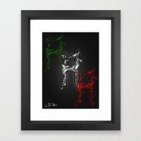 R - Is For Rare - Color … Framed Art Print