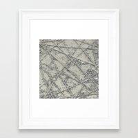 Sparkle Net Framed Art Print