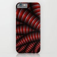 iPhone & iPod Case featuring red and silver by Christy Leigh