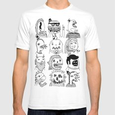 Monster Meet Up Mens Fitted Tee White SMALL