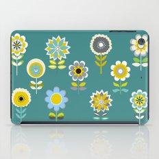70ies inspired flowers iPad Case