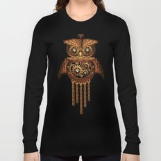 Steampunk Owl Vintage Style Long Sleeve T-shirt