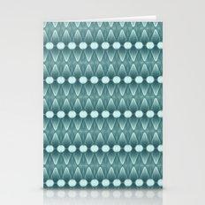 Horizontal Geometrics Teal Stationery Cards