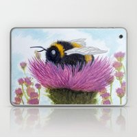 Bumblebee on a Thistle Laptop & iPad Skin