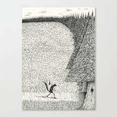 'The Field By The Forest' Canvas Print