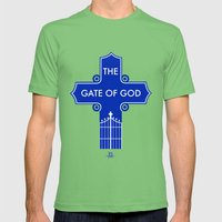 The Gate Of God Mens Fitted Tee Grass SMALL