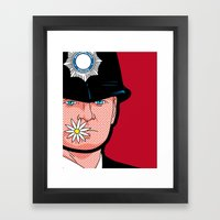 Pop Icon - Banksy Wink Framed Art Print