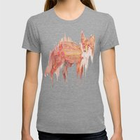 Remix Red Fox Womens Fitted Tee Tri-Grey SMALL