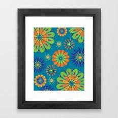 Psycho Flower Blue Framed Art Print