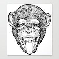 the Monkey Canvas Print