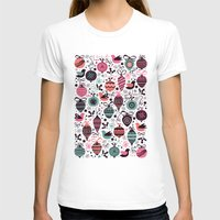 Birds And Baubles  Womens Fitted Tee White SMALL