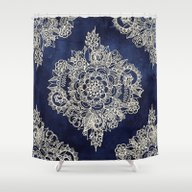 Shower Curtain featuring Cream Floral Moroccan Pa… by Micklyn