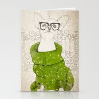 Hipster Chiuaua Stationery Cards