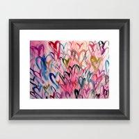 My Love Heart Framed Art Print