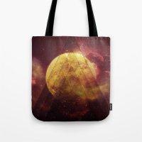 Retro Nebula Tote Bag