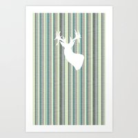 Staggered Art Print