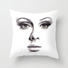 Adele  Throw Pillow