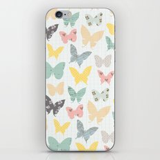 butterflies pattern iPhone & iPod Skin