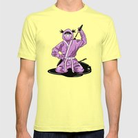 Lady Ninja Mens Fitted Tee Lemon SMALL