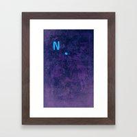 N is for... Framed Art Print