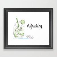 Refreshing Framed Art Print