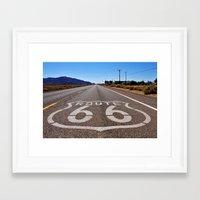 Historic Route 66 Framed Art Print