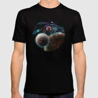 Deep Space Flare Mens Fitted Tee Black SMALL
